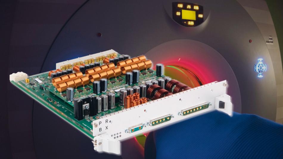 Bild 3. Das kernlose Schaltnetzteil PRBX GB350 ist für den Betrieb in starken Magnetfeldern ausgelegt. Es ist vollständig digital gesteuert und überwacht.