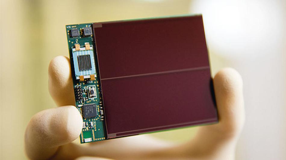Bild 3. Einsatz eines Mikro-Akkus im energieautarken Sensorknoten, der per Solarzelle versorgt wird