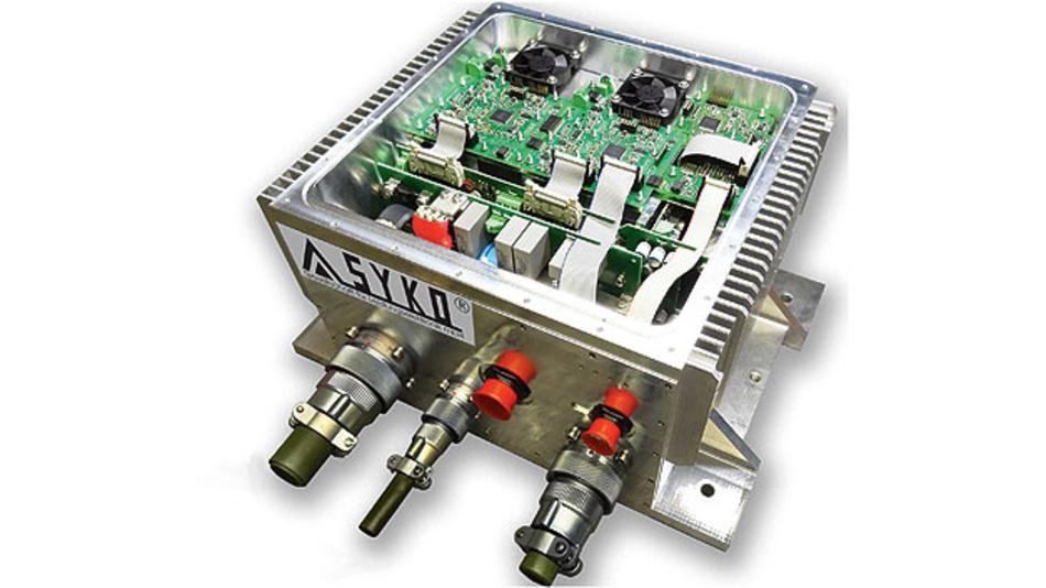 Bild 1. Die Regenerator-Baugruppe REG 3000 von Syko erzeugt aus dem statischen und dy-namischen Grobnetz zwei funktional unabhängige, geregelte und kurzschlussfeste Feinnetzspannungen.