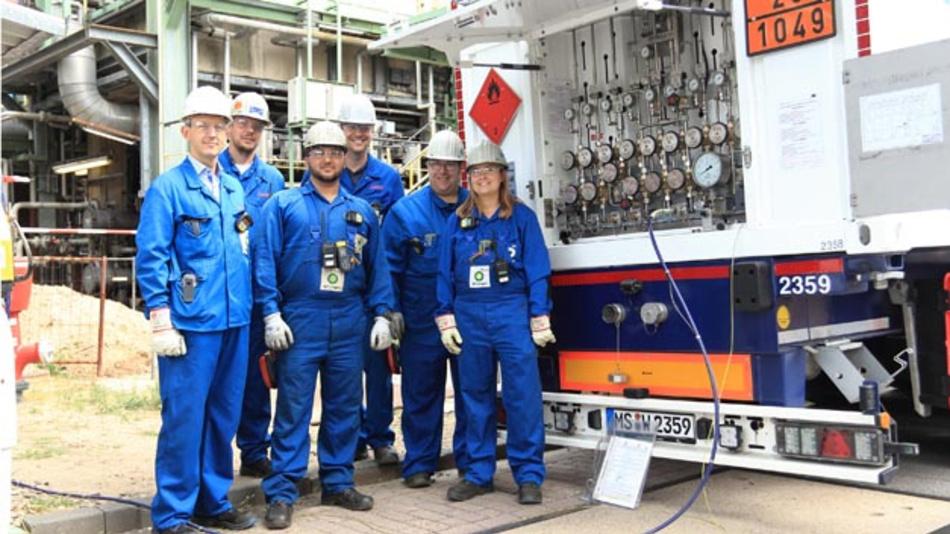 Die BP-Raffinerie in Lingen setzt weltweit erstmals grünen Wasserstoff zur Kraftstoffherstellung ein.