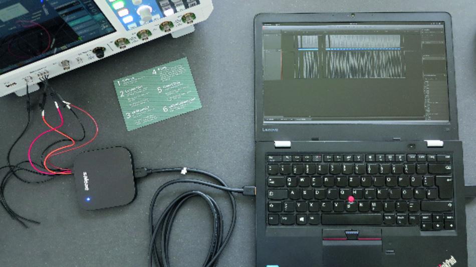 Bild 3: Testmessung an definiter Signalquelle.