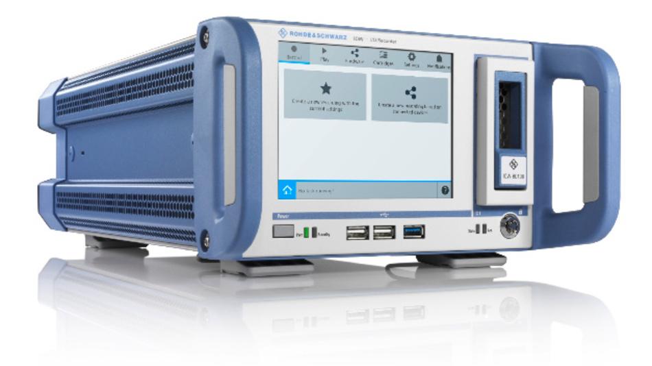 IQW I/Q-Breitbandrekorder von Rohde & Schwarz zur Labor-Simulation von realitätsnahen Gerätetests.