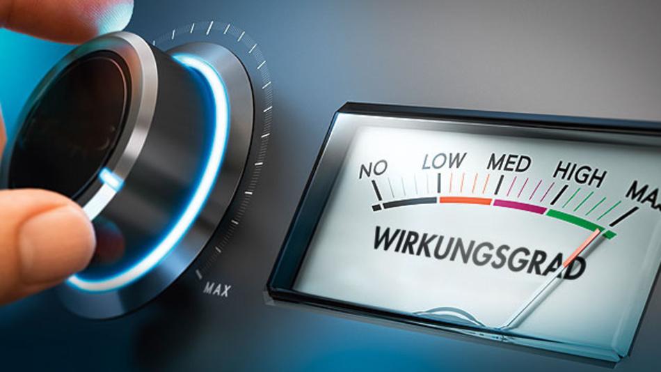Kontaktlose Energieübertragung regelt den Arbeitspunkt auf das  Wirkungsgradmaximum.