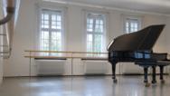 Ein Unterrichtsraum der Palucca Hochschule für Tanz Dresden