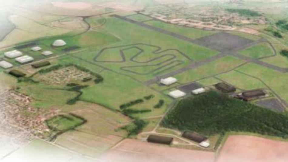 Der ehemalige Flugplatz Hullavington – auf dem Gelände entsteht das Entwicklungszentrum und Testgelände für Elektrofahrzeuge.