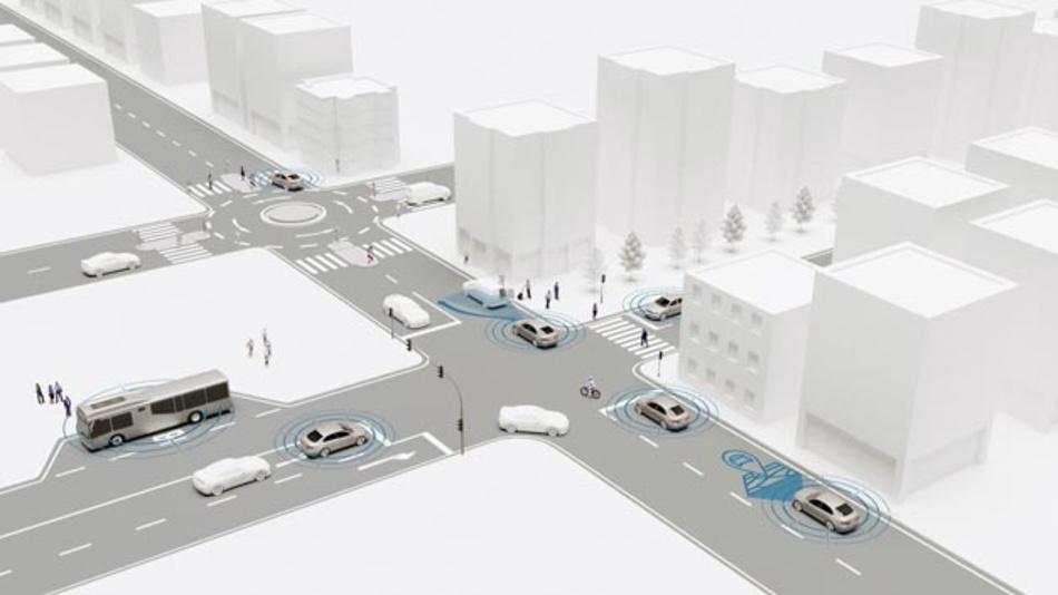 Die Forschungsinitiative @City führt Automobilhersteller, Zulieferer, Software-Entwickler und Universitäten zusammen. Untergliedert in die zwei Projekte @City und @City-AF werden Konzepte, Technologien und prototypische Anwendungen entwickelt, die das automatisierte Fahren in urbanen Räumen ermöglichen sollen.