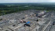 Die HGÜ-Kurzkupplungsstation in Bherama, die das indische Stromnetz mit dem von Bangladesch verbindet.
