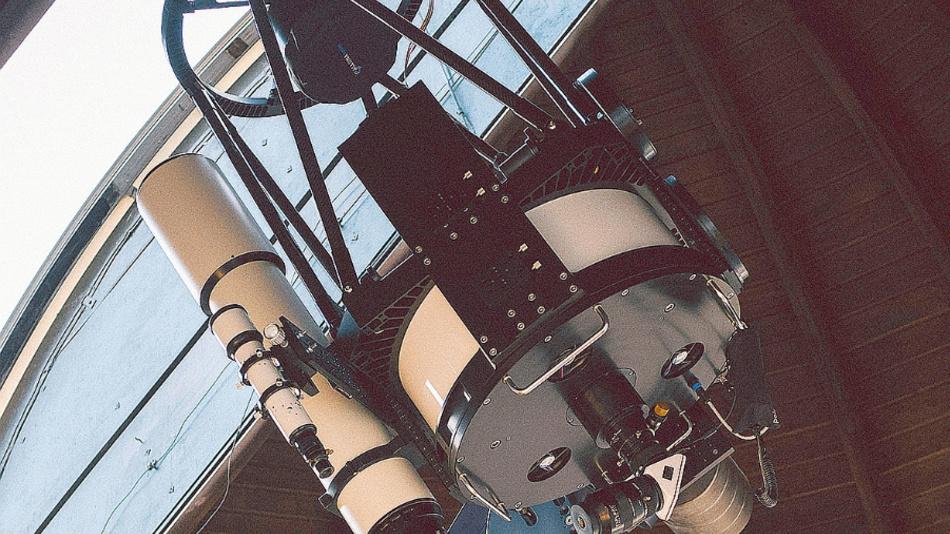Das Teleskop in der Sternwarte Weikersheim.