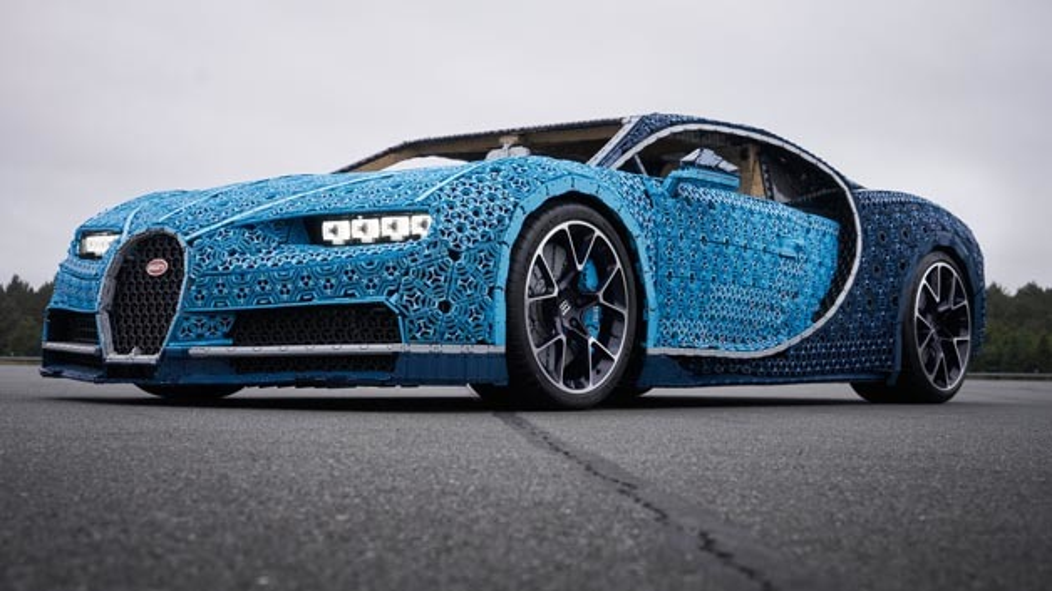 Lego hat den legendären Bugatti Chiron nachgebaut.