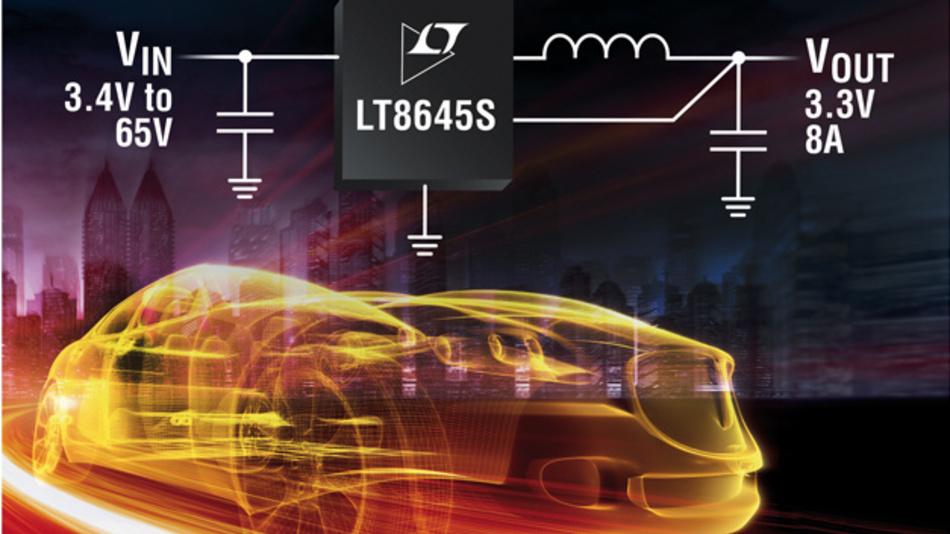 Der LT8645S ist ein kompakter Abwärtswandler, der keinen externen Leistungsschalter benötigt und mit der Silent-Switcher-Technologie ausgestattet ist.