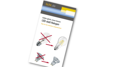 Flyer: Halogen statt LED