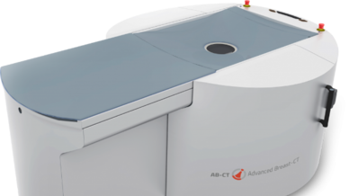nu:view ist laut hersteller der erste Brust-CT-Scanner, der auf Spiral-CT-Technologie basiert.