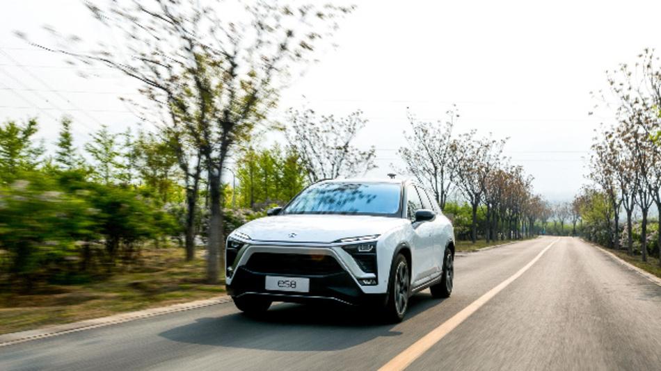 Den SUV vom Typ ES8 baut Nio seit Juni 2018. Das E-Auto enthält Schlüsselkomponenten von Bosch.