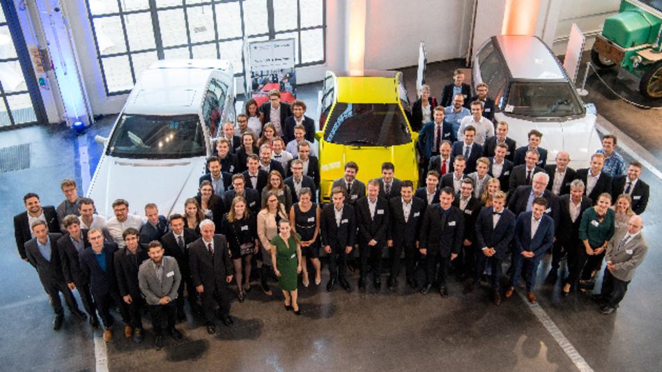 Gewinner und Gäste der Drive-E-Preisverleihung im Deutschen Museum.