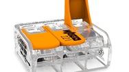 Wago erweitert die Einsatzmöglichkeiten seiner Compact-Verbindungsklemme um eine Variante für Leiterquerschnitte bis 6mm2. Bisher ließen sich mit den Verbindungsklemmen der Serie 221 von Wago Leiterquerschnitte von 0,2 bis 4mm2 ein- und mehrdrähtig