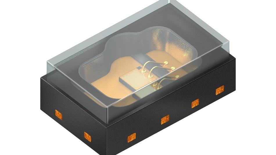 Der Bidos PLPVQ 940A ist die erste serienreife VCSEL-Lichtquelle von Osram Opto Semiconductors. Sie lässt sich wie ein LED-Gehäuse montieren und emittiert 300 mW Strahlungsleistung bei einer Peak-Wellenlänge von 940 nm.