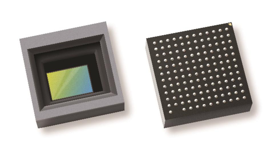 Der Bildsensor OX01B40 (links) und der Bildsignalprozessor (rechts) sind auf der gemeinsam entwickelten Leiterplatte des HD-Kameramoduls von OmniVision Technologies und Leopard Imaging untergebracht.