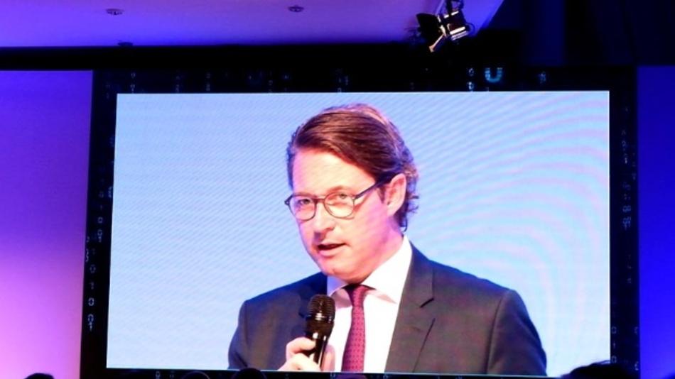 Verkehrsminister Scheuer auf der Eröffnungsveranstaltung der Innotrans 2018.