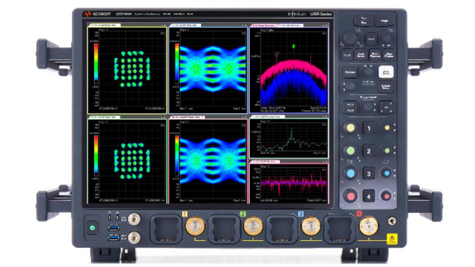 Die Oszilloskope der Keysight Infiniium UXR-Serie sollen laut Hersteller mit Modellen von 13 bis 110 GHz (hier im Bild zu sehen für 110 GHz) einen neuen Standard für die Genauigkeit von Echtzeit-Oszilloskopen setzen.