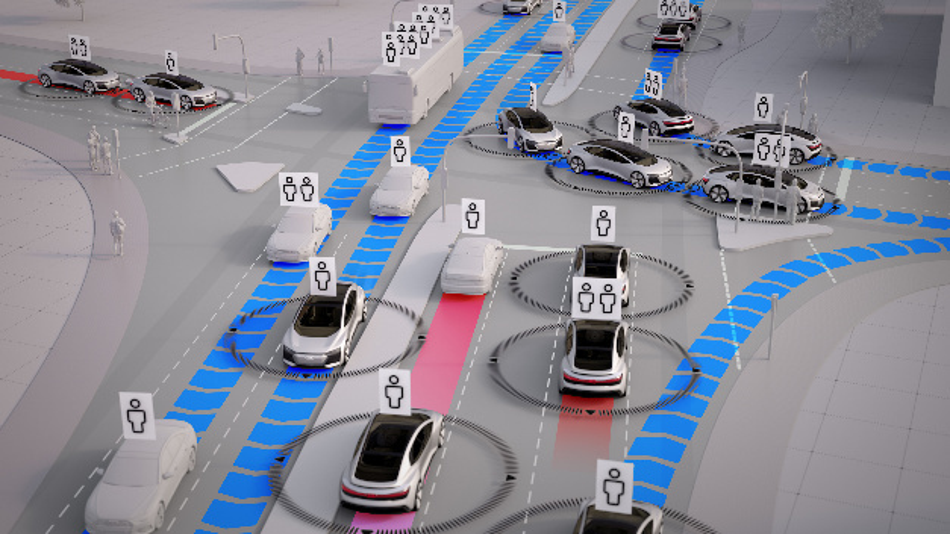 Positive Effekte im Verkehrsfluss zeigen sich durch eine intelligente Verkehrssteuerung und einem höheren Besetzungsgrad.