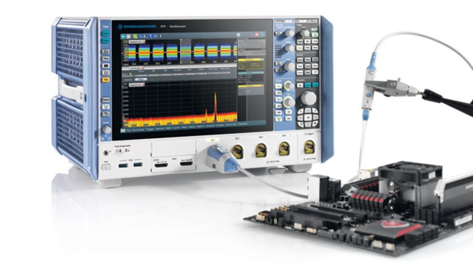 Rauscharme, breitbandige Oszilloskope wie das 8-GHz-R&S-RTP erlauben eine schnelle und präzise Charakterisierung von Spannungsversorgungen. Power-Rail-Tastköpfe werden für diese Messungen speziell entwickelt.