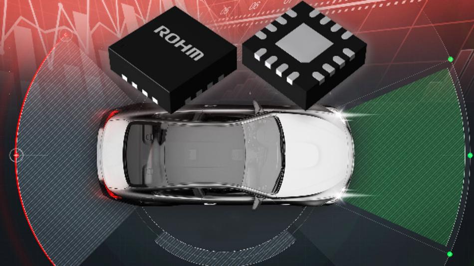 Die DC/DC-Wandler der BD9S-Serie ermöglichen eine zuverlässige Stromversorgung für Sensoren von Fahrerassistenzsystemen.