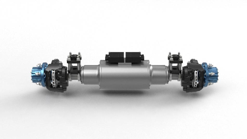 Die elektrische BPW-Antriebsachse für Fahrzeuge bis zu 7,5 t Gesamtgewicht.