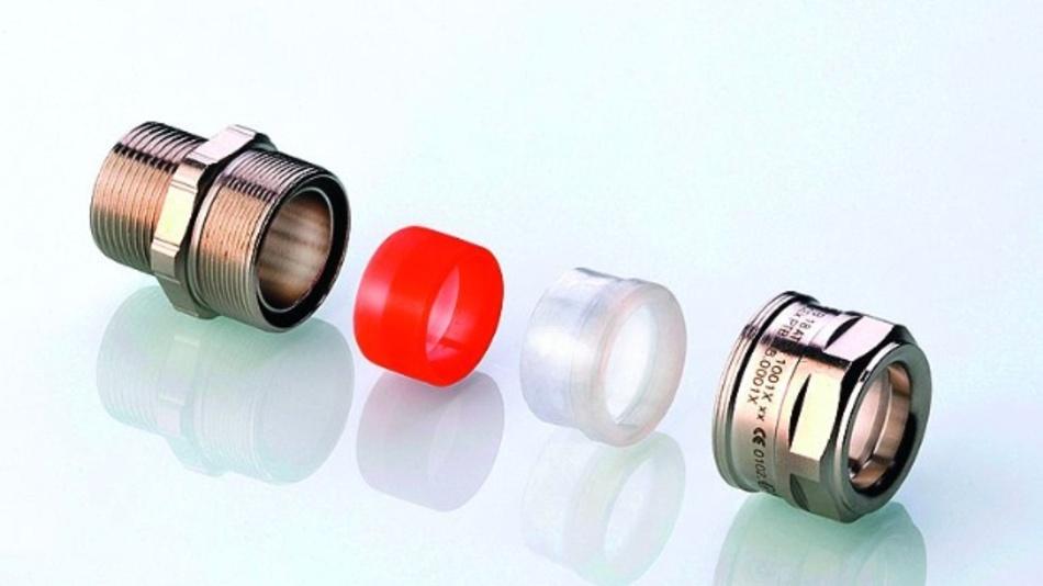 Bild 2. Die innovative Ex-d-Kabelverschraubung LevelEx besteht aus wenigen Systemteilen für eine einfache wie sichere Montage.