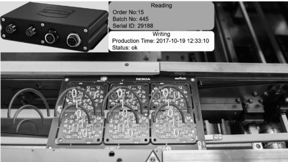 Bild 2. Nokia nutzt die Vorteile der UHF-RFID-gestützten Leiterplattenfertigung bereits in ihrer neuen modularen Industrie-4.0-Fertigungsstraße.