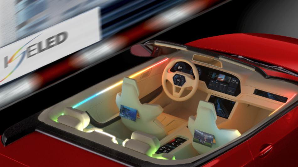 Die ISELED-Allianz entwickelt Hard- und Software für ein neues LED-Beleuchtungskonzept im Fahrzeug. Für die LED-Ansteuerung stehen satte 2 Mbit/s zur Verfügung.