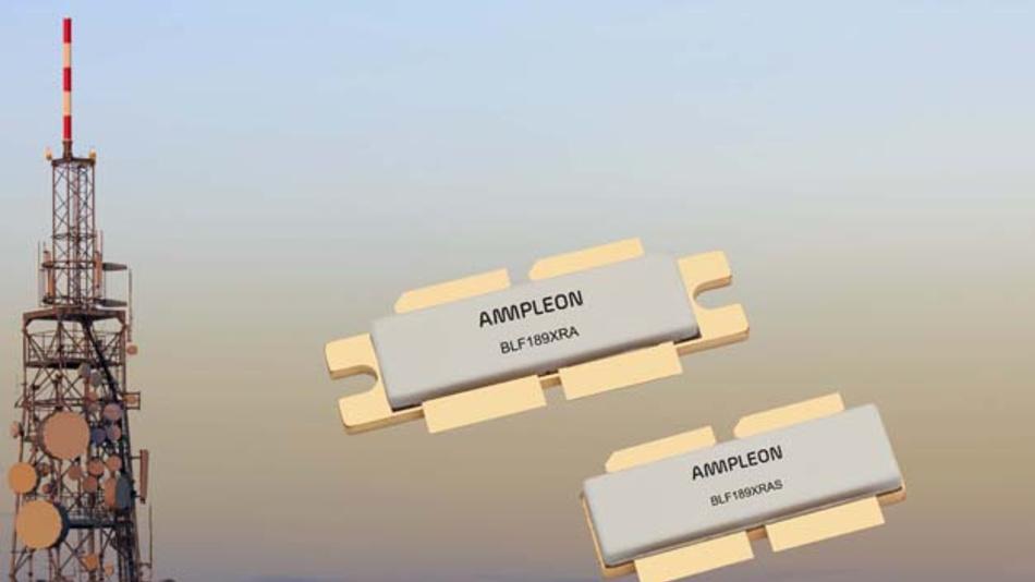 Leistungs-MOSFET-Paar BLF189XRA für bis zu 1,6 kW im UKW-Bereich.