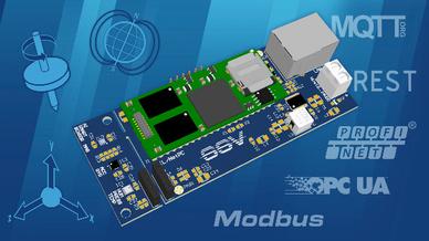 Beim DNP/AISS1 von SSV Software Systems handelt es sich um ein Evaluierungs-Board mitsamt Sensoren, Embedded-System DNP/9535, Connectivity und KI-Software.