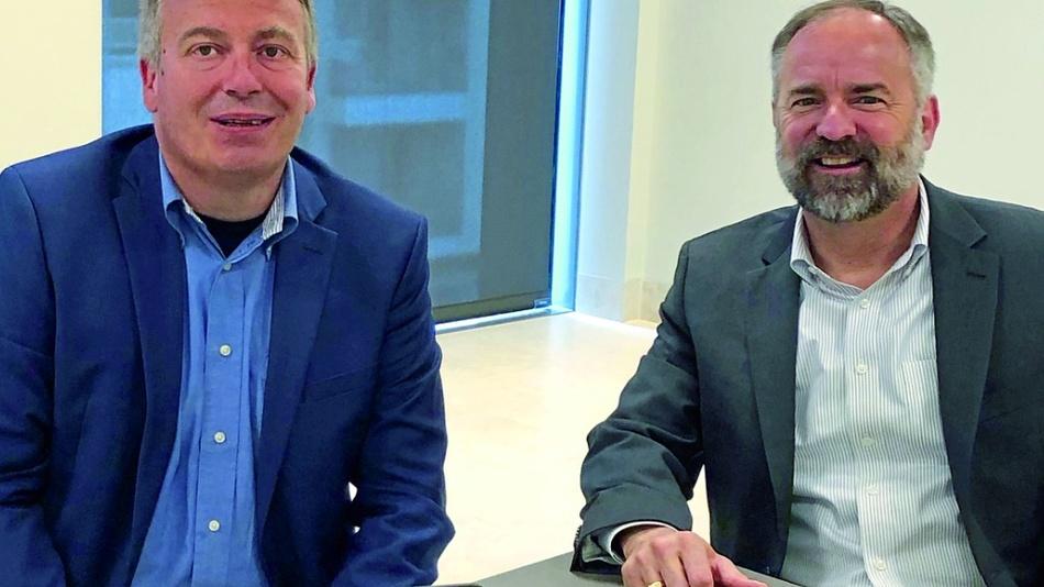 Globalfoundries' CTO Dr. Gary Patton mit D&E-Chefredakteur Frank Riemenschneider.