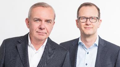 Moio-Gründerteam: Günter Maximilian Hefner, Technischer Leiter (l.) und Jürgen Besser, Geschäftsführer.