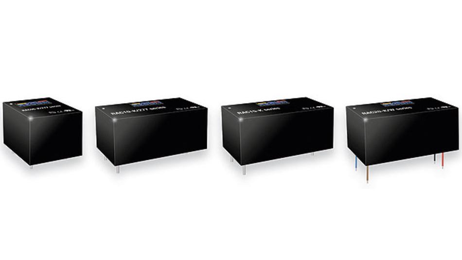 Bild 1. Recoms neue RACxx-K-Familie ist mit Leistungen von 5, 10, 15 und 20 W lieferbar und erreicht einen Wirkungsgrad bis 90 %.