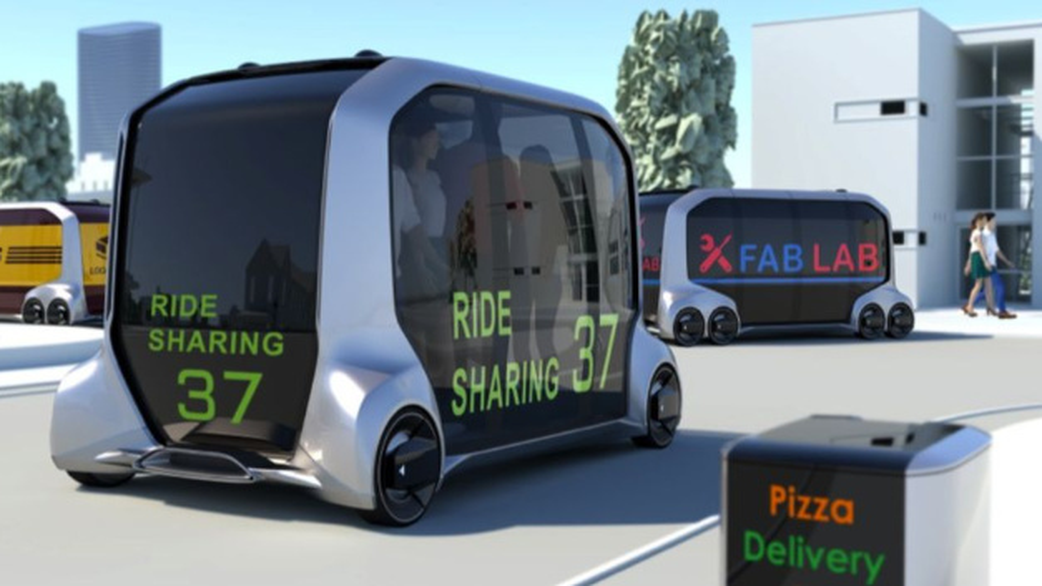 »E-Palette« ist die Plattform von Toyota für Mobilitätsdienstleistungen einschließlich eines vollelektrischen Fahrzeugs, die das Unternehmen auf der CES im Januar 2018 angekündigt hatte. Jetzt will Toyota zusammen mit Softbank Mobility as a Service vorantreiben.