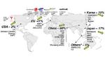 Globale Verteilung der Produzenten von Lithium-Ionen-Zellen