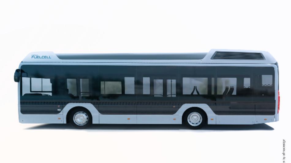 Ein Brennstoffzellenbus von Toyota Motors.