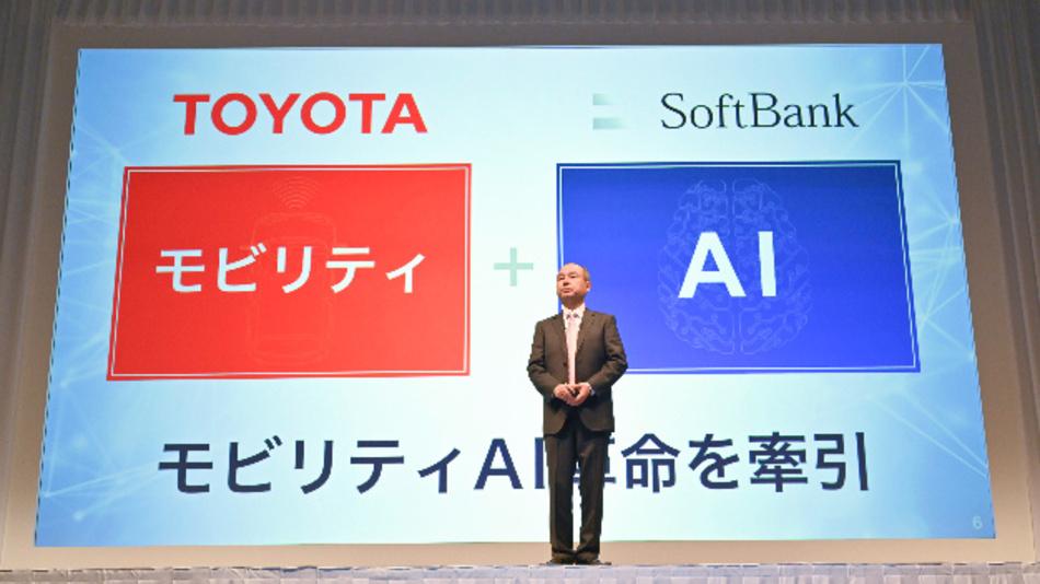 Masayoshi Son, Gründer von Softbank auf der Pressekonferenz vergangenen Woche, als er zusammen mit Toyota-Motor-President Akio Toyoda die Gründung von Monet bekannt gab. Saudi Arabien will weitere 45 Mrd. Dollar investieren.