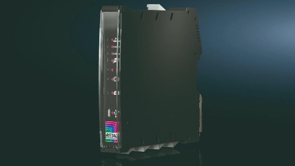 Das IoT-Interface lässt sich auf einer Hutschiene oder direkt am Kühlgerät oder Chillern von Rittals Serie Blue e+ befestigen.