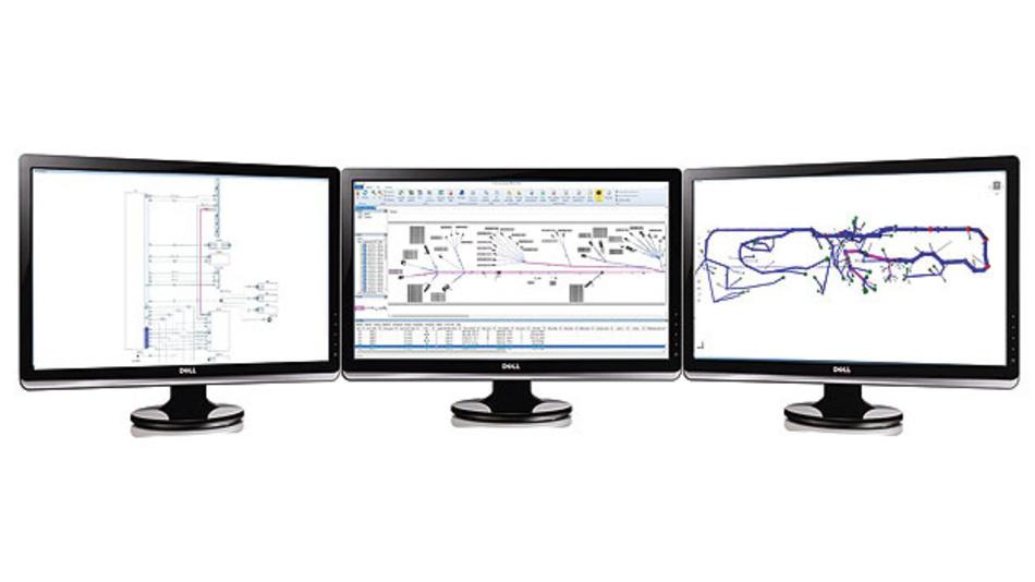 Bild 2. Die Beschreibung des Bordnetzes über KBL ermöglicht eine Reihe von Darstellungen einschließlich ihrer Varianten: als Schaltplan, maßstabsgerechte 2D-Zeichnung und 3D-Darstellung. Diese Ansichten werden dynamisch generiert und basieren nicht mehr auf Dokumenten oder statischen Zeichnungen.