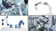 Collage zu Produkten aus der Robotik