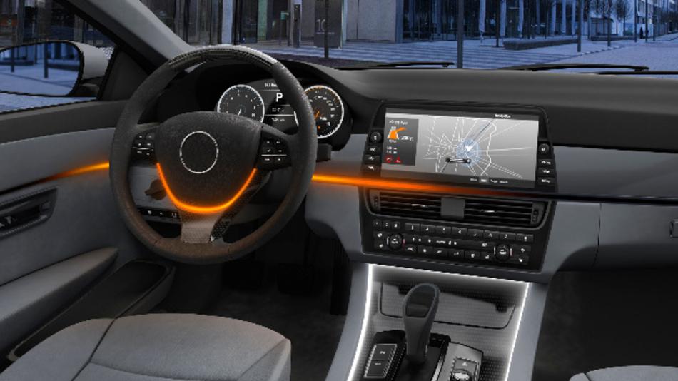 Dynamische Beleuchtung im Fahrzeuginnenraum mit der Osire E4633i von Osram.