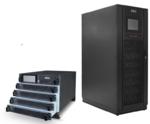 Die modularen, unterbrechungsfreien Stromversorgungen Protect Plus M400 (links) und Protect Plus M600 (rechts) gehören zur  M-Serie, die sowohl Server-Räume als auch Rechenzentren adressiert.