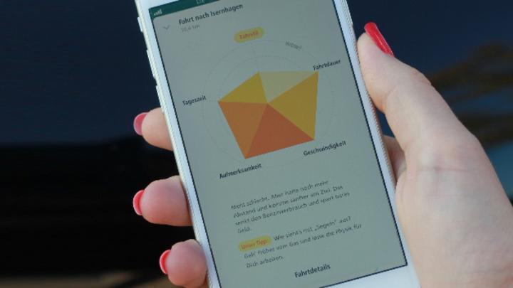 Fahrtauswertung DiamondDrive App von HDI am Smartphone