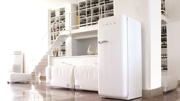 Smeg Kühlschrank Groß : Smeg fab lsv kühl gefrierkombination polarsilber metallic