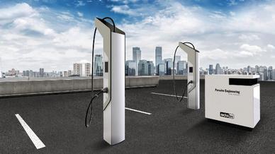 Ladesäulen mit Technik von ads-tec Energy.