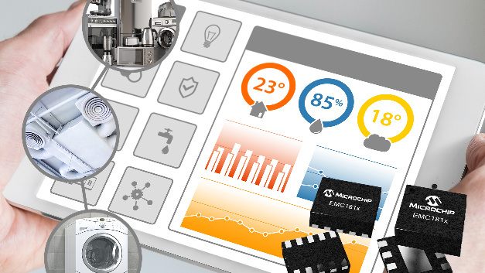 Die Sensoren der EMC181x-Serie ermöglichen es, die Änderungsrate der Systemtemperatur zu messen.