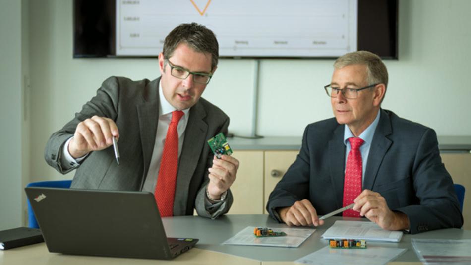 Design-to-X ist Teamarbeit: Timo Dreyer (links) und Reiner Hambach, Helmut Beyers GmbH