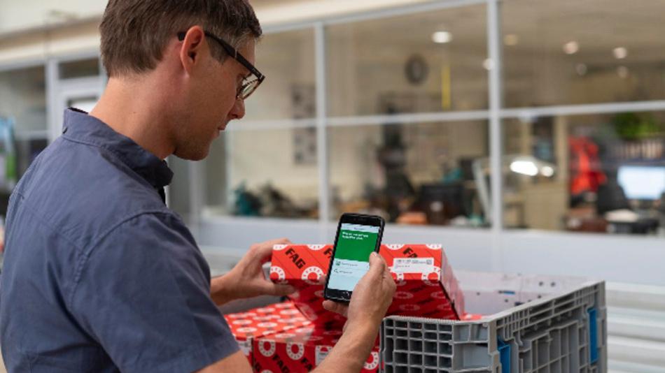 Mit der »OriginCheck App« von Schaeffler können Kunden die Echtheit von Produkten des Unternehmens bestätigen.